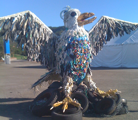 Seagull made from trash by: Erin Mitchell