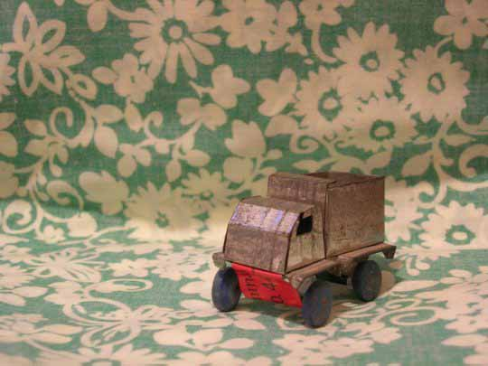 photo by: alyssa (truck made from an aluminum can and flip-flops)